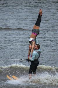 Jillian and Justin perform the Handstand